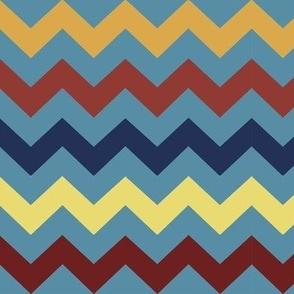 Chevrons on Turquoise