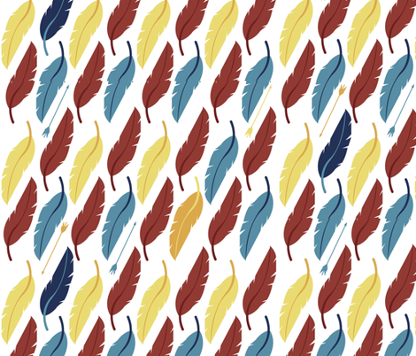 Feathers fabric by nightgarden on Spoonflower - custom fabric