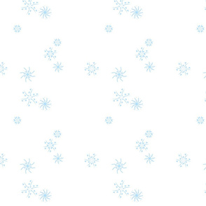 snowflakes baby blue