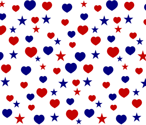 AMERICAN STARS N HEARTS fabric by bluevelvet on Spoonflower - custom fabric
