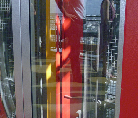looking down the Elevator Shaft, Pompidou Center, Paris - 3 fabric by susaninparis on Spoonflower - custom fabric