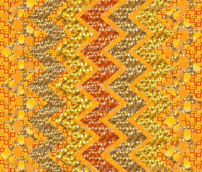 Klimtesque cheater zig zag quilt 1