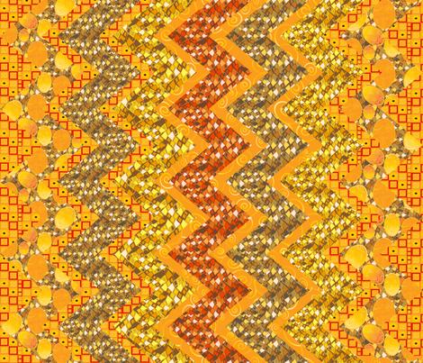 Klimtesque cheater zig zag quilt 1 fabric by kociara on Spoonflower - custom fabric