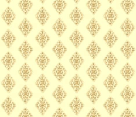 MAYAN CREAM DIAMONDS fabric by bluevelvet on Spoonflower - custom fabric