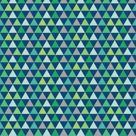 Triangles_Galore_blue fabric by stacyiesthsu on Spoonflower - custom fabric