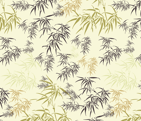 Bamboo Leaves fabric by candyjoyce on Spoonflower - custom fabric