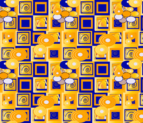 Klimt 11 fabric by kociara on Spoonflower - custom fabric