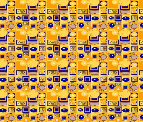 Klimt 12 fabric by kociara on Spoonflower - custom fabric