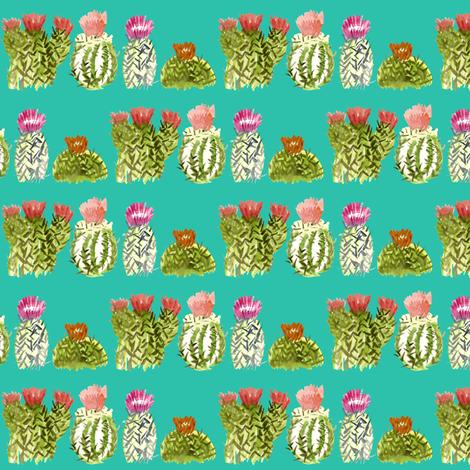 tealcactusfamily2 fabric by sára_emami on Spoonflower - custom fabric