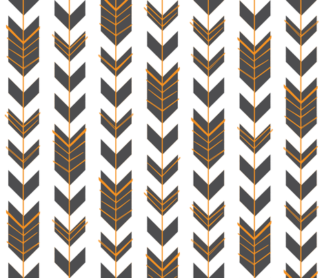 Hallow Fields arrows chalkboard fabric by kennerroad on Spoonflower - custom fabric