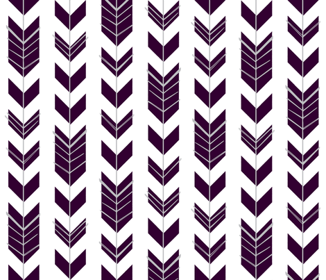 Hallow Fields arrows eggplant fabric by kennerroad on Spoonflower - custom fabric