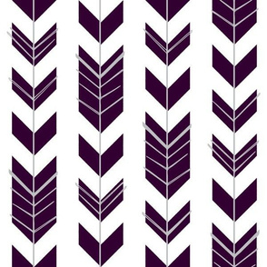 Hallow Fields arrows eggplant