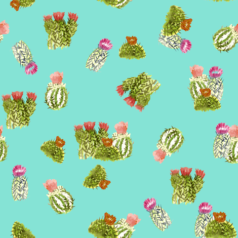 cactusfamily14 fabric by sára_emami on Spoonflower - custom fabric