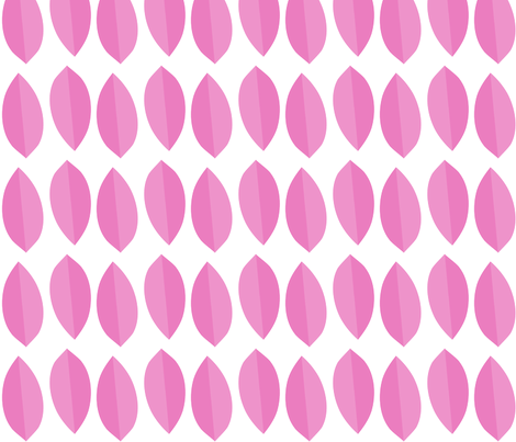 pink_leaves fabric by mainsail_studio on Spoonflower - custom fabric