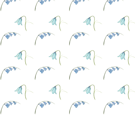Bluebell Flowers White fabric by de-ann_black on Spoonflower - custom fabric