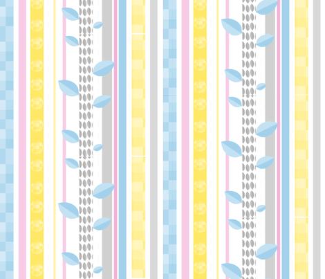 Pastel Stripes Horizontal fabric by mainsail_studio on Spoonflower - custom fabric
