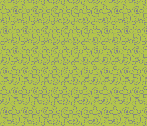 African_Crescents_green fabric by roxanne_lasky on Spoonflower - custom fabric