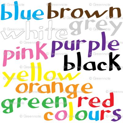 English colour words