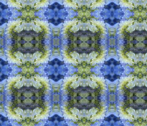 Blue Hydrangea_9154 fabric by falcon11 on Spoonflower - custom fabric