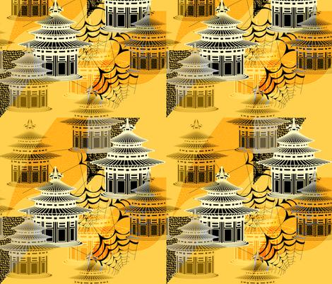 Pagodas fabric by isabella_asratyan on Spoonflower - custom fabric
