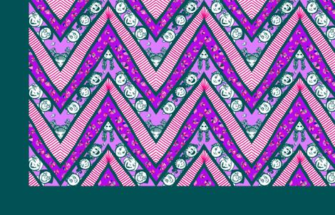 Zig-Zaggy Kids Cheater Quilt fabric by tallulahdahling on Spoonflower - custom fabric