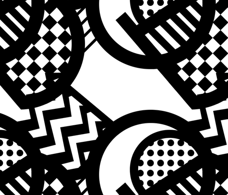monocrhome_3 fabric by lusykoror on Spoonflower - custom fabric
