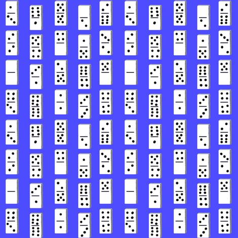 dominoesblue fabric by moonbeam on Spoonflower - custom fabric