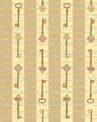 steampunk stripes with keys