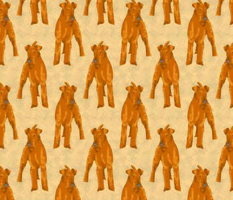 Posing Irish terriers - tan fabric by rusticcorgi on Spoonflower - custom fabric