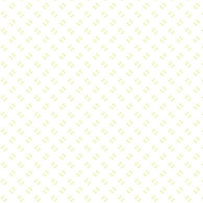 Simple speckles in pale yellow on white