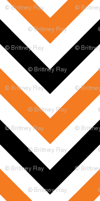 Orange & Black Chevrons