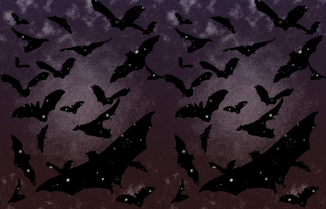 Night Bats fabric by rachael_reichert on Spoonflower - custom fabric