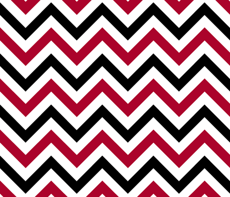 Red & Black Chevrons fabric by pond_ripple on Spoonflower - custom fabric
