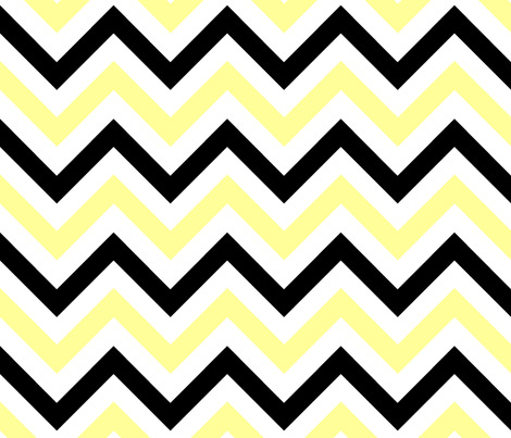 Yellow & Black Chevrons fabric by pond_ripple on Spoonflower - custom fabric