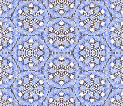 Pearl Snowflake Hexagons