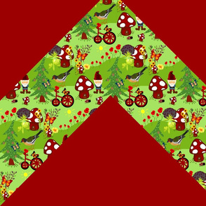 Gnomeville zigzag quilt
