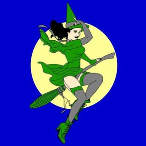 Green Pin-Up Witch