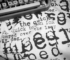 Typewriter ~ typewriters (black & white) - fox1