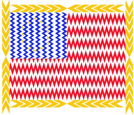 Chevron Stars and Stripes fabric by scifiwritir on Spoonflower - custom fabric