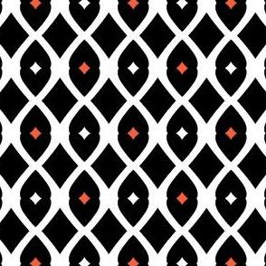 Wire Fence (Vermillion, Black &White)