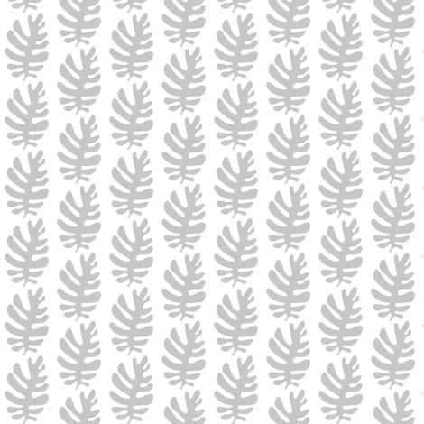 Funky Leaf (dove grey) fabric by pattyryboltdesigns on Spoonflower - custom fabric