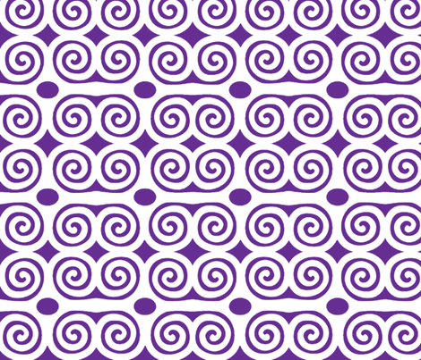 Strength in Royal Purple fabric by dolphinandcondor on Spoonflower - custom fabric