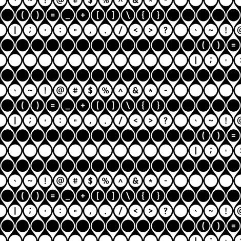 Geometric Symbols Keys fabric by modgeek on Spoonflower - custom fabric