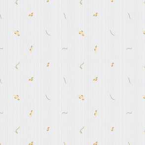 bird doodads small print on grey lines