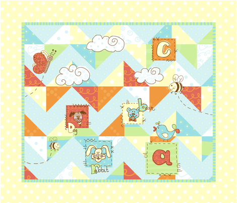 children's animal ABC quilt fabric by mommadeedesigns on Spoonflower - custom fabric