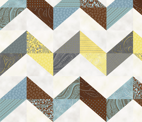 ZigZag MishMash fabric by resdesigns on Spoonflower - custom fabric