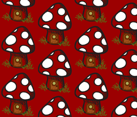 Red Shroom  fabric by paragonstudios on Spoonflower - custom fabric