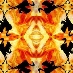 Cranes Mating Display By Sylvie