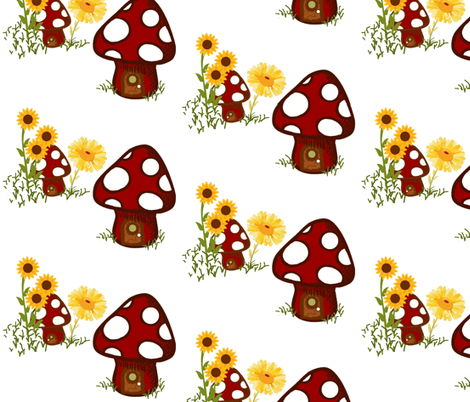 A happy gnome flora fabric by paragonstudios on Spoonflower - custom fabric