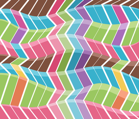 Rainbow Chevrons fabric by sew-me-a-garden on Spoonflower - custom fabric